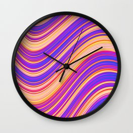 Colorful Wavy Stripes Wall Clock