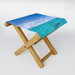South Pacific Crystal Ocean Dreamscape with Boat Folding Stool