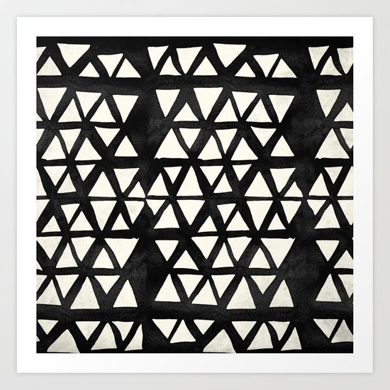 Tribal Geometric Art Print