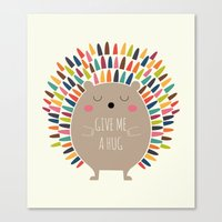 hug Canvas Prints featuring Give Me A Hug by Andy Westface