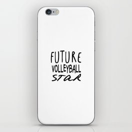 Future Volleyball Star iPhone Skin