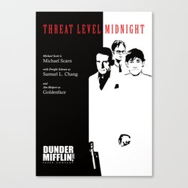 The Office Poster - Threat Level Midnight Canvas Print