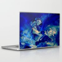 angels Laptop & iPad Skins featuring angels by  Agostino Lo Coco