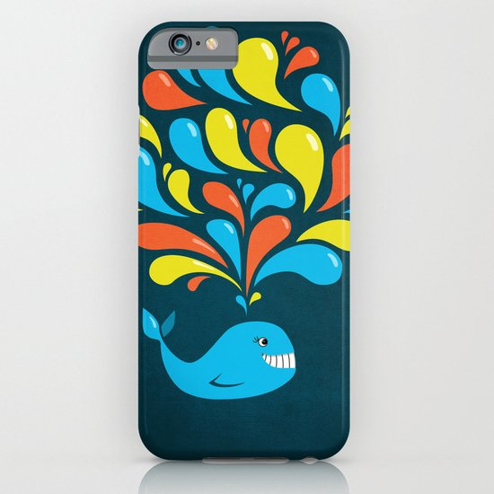Dark Colorful Happy Cartoon Whale iPhone & iPod Case