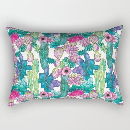 Cactus and succulents pattern Rectangular Pillow