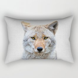 Coyote - Colorful Rectangular Pillow