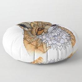 Fox Portrait Floor Pillow