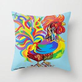 Fiesta Rooster Throw Pillow