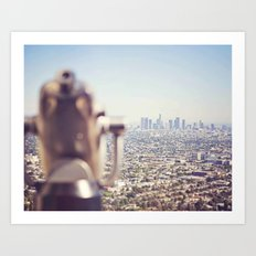 View from the Top, Los Angeles Art Print