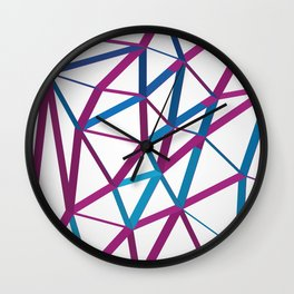 3D Futuristic GEO Lines Wall Clock