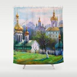 Holy Dormition Kiev-Pechersk Lavra Shower Curtain