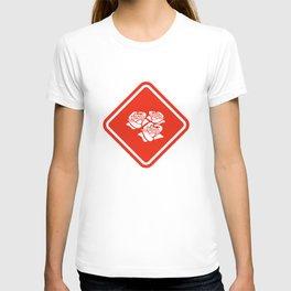 Road Sign - Roses T-shirt