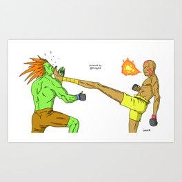 Teep Kick Art Print