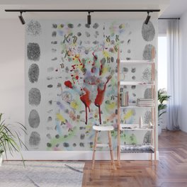 DNA signature is the fingerprint that can be used to identify us Wall Mural
