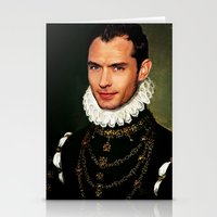 law Stationery Cards featuring Jude Law by Kimberley Britt