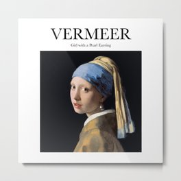 Vermeer - Girl with a Pearl Earring Metal Print