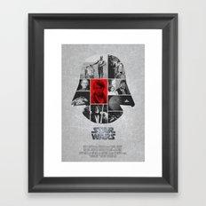 A New Hope COLLAGE variation Framed Art Print