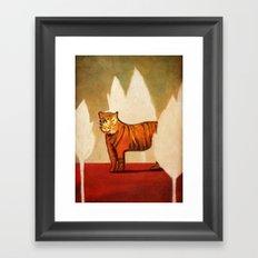 Twilight of the Sumatran Tiger Framed Art Print