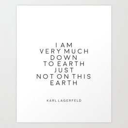 Fashion Wall Art Fashion Decor Karl Lagerfeld Quotes Karl Lagerfeld Print Printable Quotes Fashion Art Print