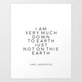 Fashion Wall Art Fashion Decor Karl Lagerfeld Quotes Karl Lagerfeld Print Printable Quotes Fashion Art Print