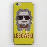 big lebowski iPhone & iPod Skins featuring The Big Lebowski by Francesco Dibattista