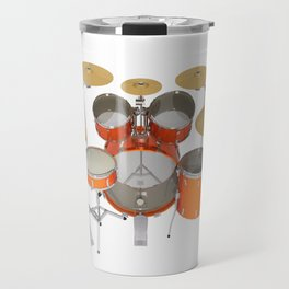 Orange Drum Kit Travel Mug