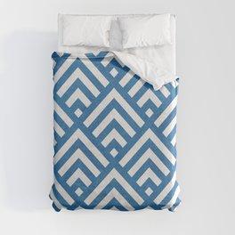 Tiles pattern in blue textured Duvet Cover