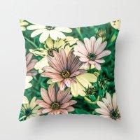 daisies Throw Pillows featuring Daisies by Loredana