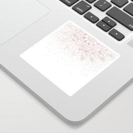 Elegant rose gold mandala confetti design Sticker