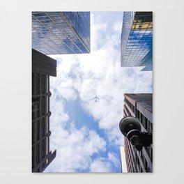 City Plane Canvas Print