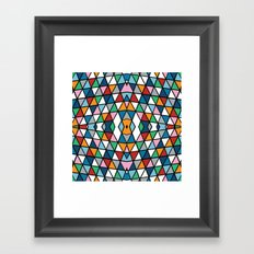 Geo Outline Colour Framed Art Print