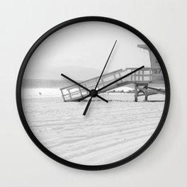 Black and White LA Beach Wall Clock