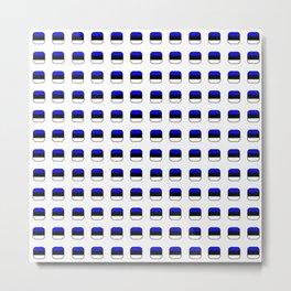Flag of estonia 5 with soft square Metal Print