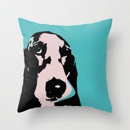 Basset hound art print  Throw Pillow