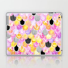 Citrus, Cotton Candy & Licorice Watercolor Scales Laptop & iPad Skin