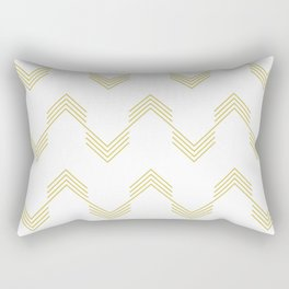 Simply Deconstructed Chevron Mod Yellow on White Rectangular Pillow