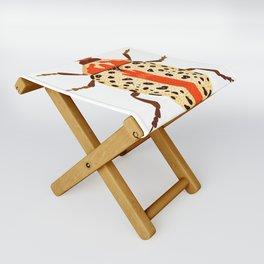 White and Orange Beetle Folding Stool