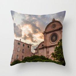 St. Jacob`s Chatedral Sibenik, Croatia Throw Pillow