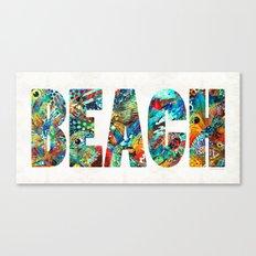 Beach Art - Beachy Keen - By Sharon Cummings Canvas Print