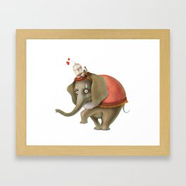Fancy elephant Framed Art Print