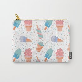 pastel ice cream pattern Carry-All Pouch