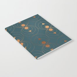 Copper Art Deco on Emerald Notebook
