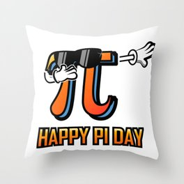 Dabbing Love Pi Day design Teacher Student Math Gift Throw Pillow