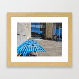 Colors of Ozyegin - Blue Framed Art Print
