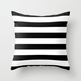 Simply Stripes in Midnight Black Throw Pillow
