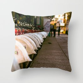 City on Wheels Throw Pillow
