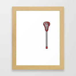 Lacrosse Stick Funny Graphic T-shirt Framed Art Print