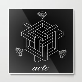 Couture by Avte Clothing. Geometric 2.0 Metal Print
