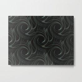 Black Swirl Metal Print