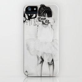 Bad Ballerina iPhone Case